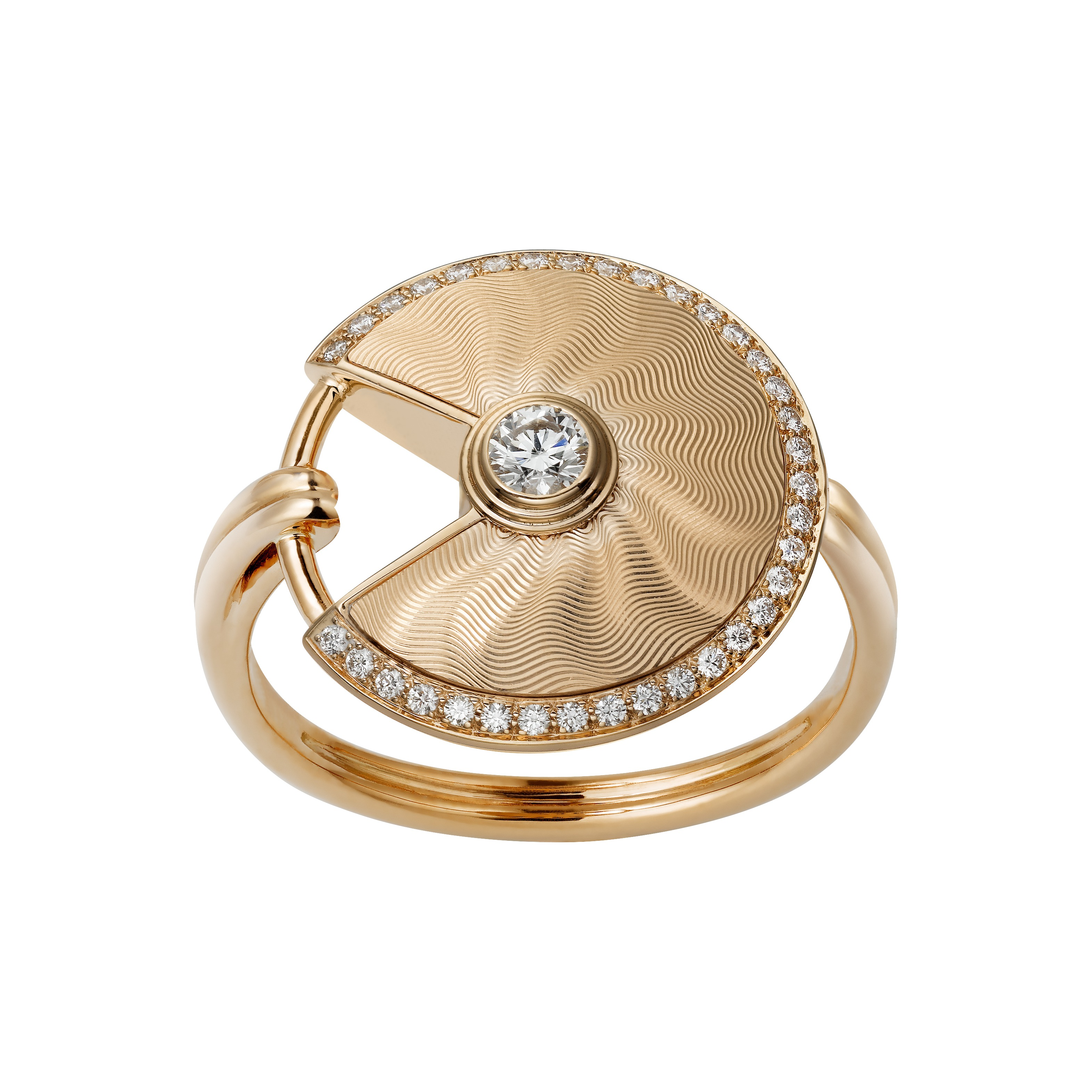 CARTIER Amulette de Cartier Ring_Small Model_Pink Gold and diamonds